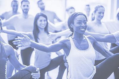 An exercise class