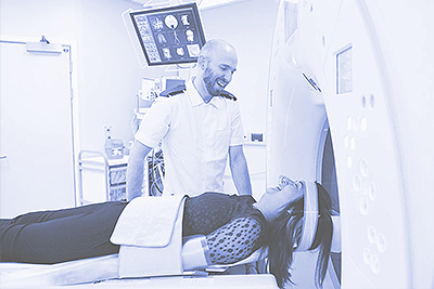 A patient has a scan
